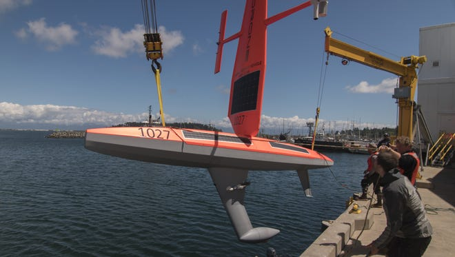 Five Saildrones will be launched on the West Coast this summer.
