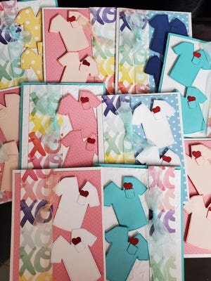 """Orange County 4-H hosted a """"Virtual Card Party"""" where they made cards to send thank you notes to local hospitals in Orange County."""