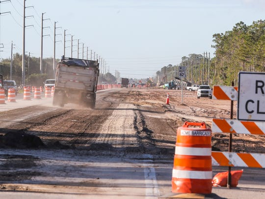 Construction is in full swing along Highway 82. This