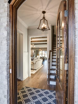 This entrance to the model home in Riverbluff shows the level of finishes in the Willow Branch Properties homes.