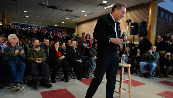 Ohio Gov. John Kasich at a town hall at Concord High