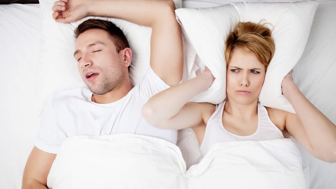 Sleep apnea can be hard on spouses.