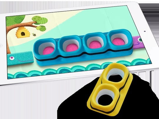 Tiggly Counts, a set of counting toys that interact with an iPad, has three free math apps to explore.