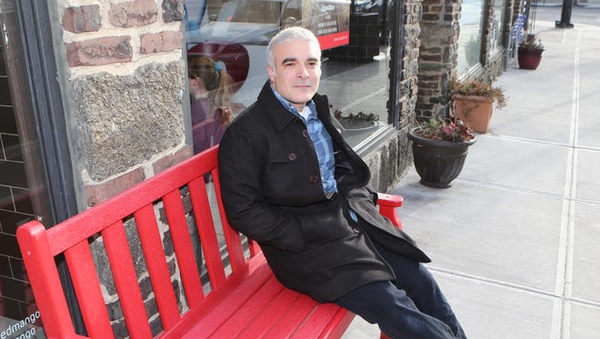Dan Bova from Larchmont, is a humor columnist for The Journal News and lohud.com.  Here he is pictured in the village, Feb. 3, 2007.