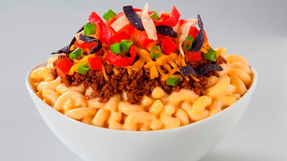 Laughing Noodle Taco Mac & Cheese Bowl.