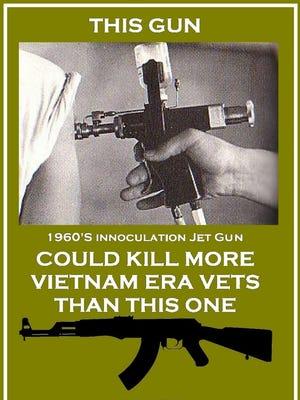 Vaccination guns put veterans at risk for developing Hepatitis C.