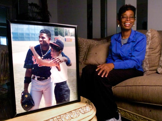 KINFAY MOROTI/The News-Press...... Connie Knight, mother of Deion Sanders, relaxes Thursday (1/27/11) at her home in south Fort Myers.