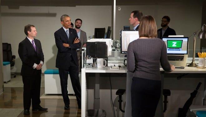 President Obama talks about TechHire program.
