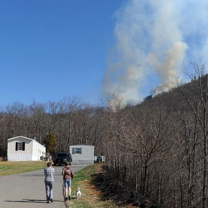 Smoke seen off I-40 Tuesday.