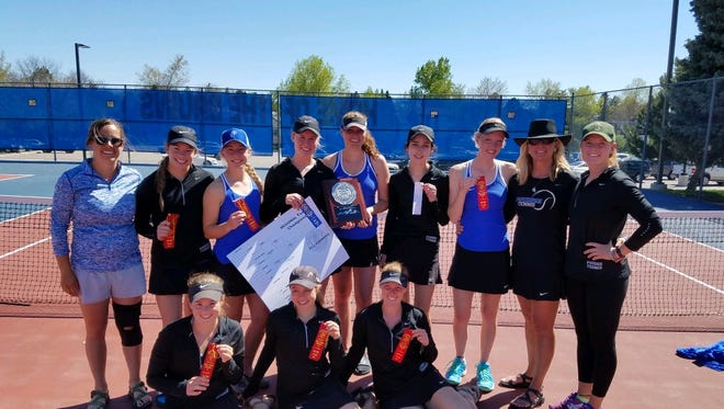 The Poudre High School girls tennis team finished second at its regional and qualified 10 players for the state tournament on Thursday.