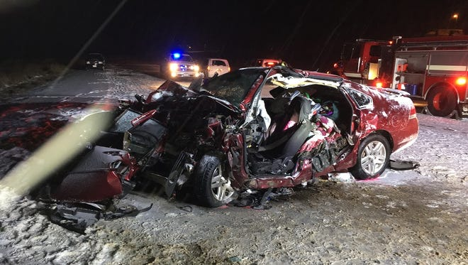 Two Neillsville-area women died Friday night when the car they were in was struck head-on by a pick-up truck that crossed the center line of Highway 10.
