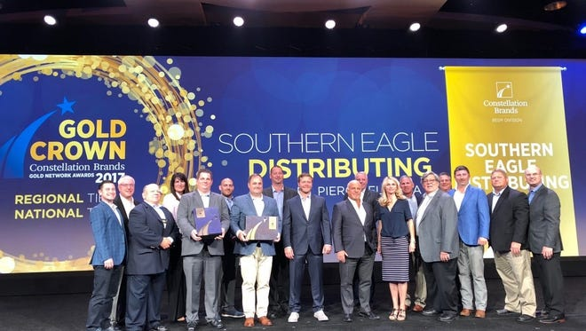 Southern Eagle Distributing in Fort PiercePierce has been recognized as the first place regional winner and first place national winner for Constellation Brands. Philip Busch, president of Southern Eagle Distributing,and several members of his team were on hand to receive the awards.