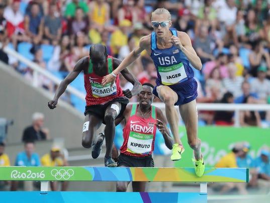 Evan Jager wins silver