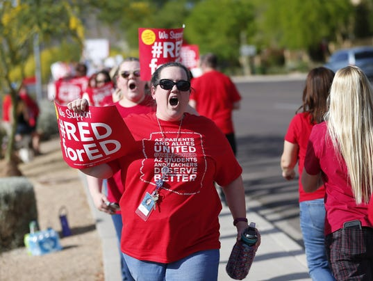 Red for Ed protest