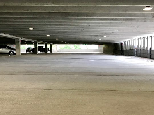 The new $22-million parking deck at Asheville Regional has about 1,100 spaces and can accommodate long-term parkers, albeit at a higher rate than in the surface lots.