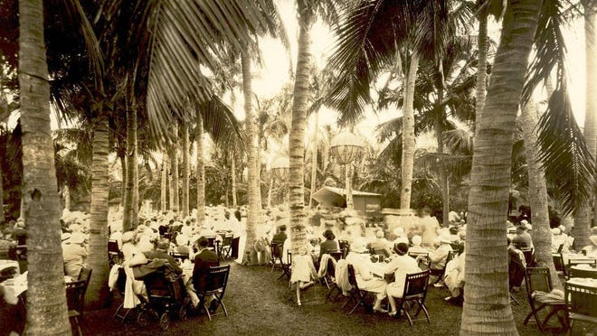 By 1932, the the daily tea dance gatherings at the Royal Poinciana Hotel's Cocoanut Grove had been scaled back to twice a week, but attendance remained robust.