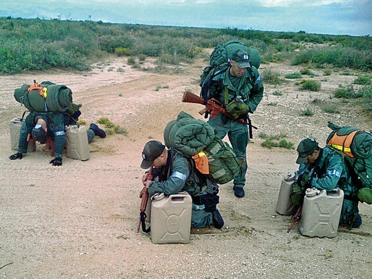 Border Patrol Tactical Unit agents are shown finishing a team drill at Fort Bliss. The elite squad is headquartered at the post, officials said.