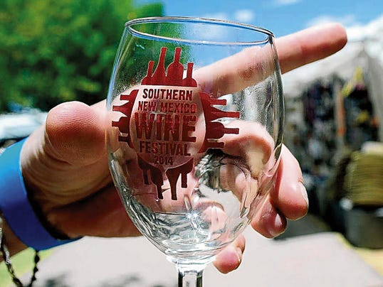 Pictured is the 2014 Southern New Mexico complementary wine glass. Each year a new design is featured on the commemorative glass, included in the price of admission,