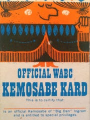 "Official ""Kemosabe Kard"" sent to fans in the 1960s."