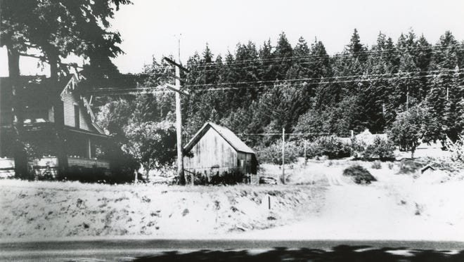 Hillside view of the former town of Eola, date unknown.