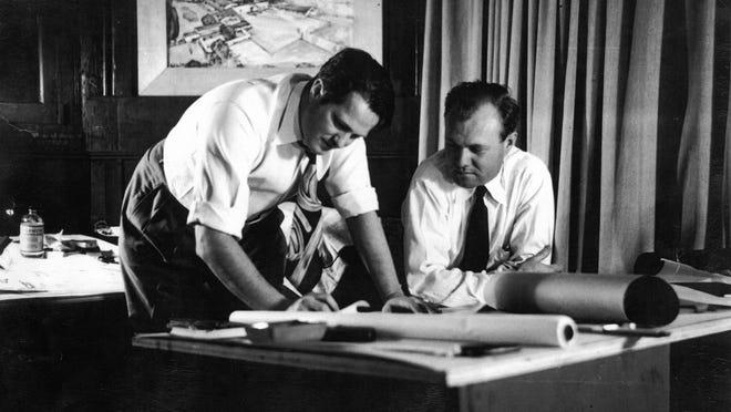 William Cody (left) and unidentified man