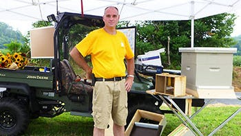 Mark Gingrich of Gingrich Apiaries will oversee the Horn Farm Center's Incubator Beekeeper Program.