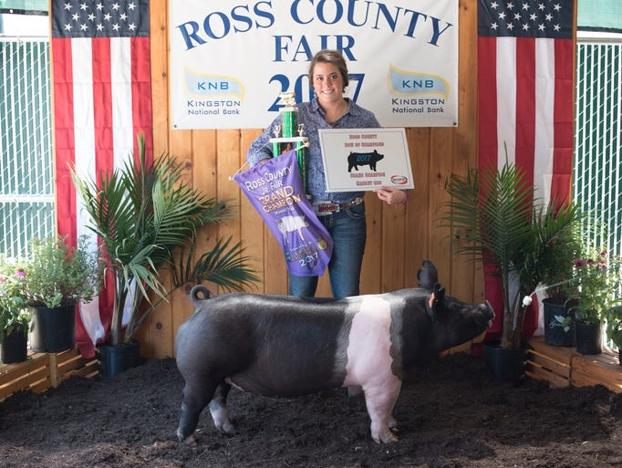 Ross County Fair Swine Judging highlights. Devon Putnam,