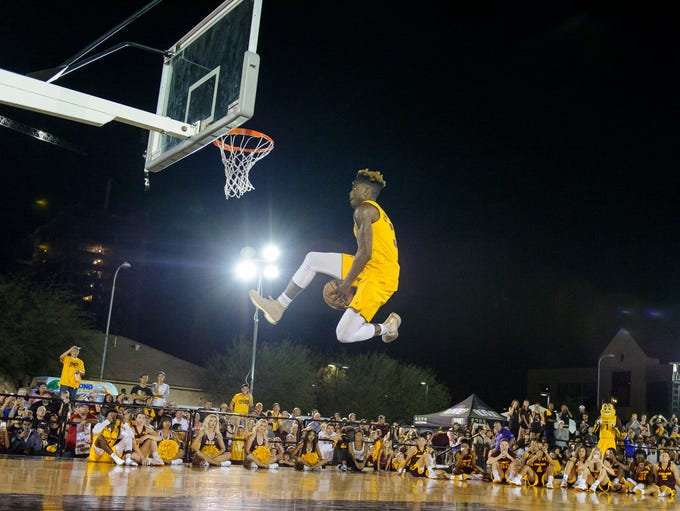 Arizona State University's Zylan Cheatham (#31) gets
