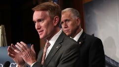Sen. James Lankford speaks on Capitol Hill on Sept.