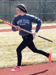 Novi senior Emma Hammelef returns in the pole vault
