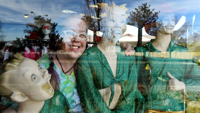 Lauren Hufft, owner of Prism Magic Clothing and Imports, poses for a portrait in her store in Sparks on Jan. 8.
