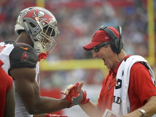 Tampa Bay coach Dirk Koetter is looking for bigger and better things from second-year tight end O.J. Howard this season.