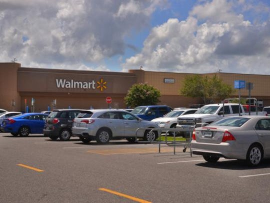 The Walmart parking lot on Wickham Road in Melbourne