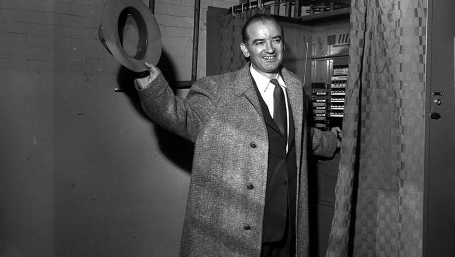 Sen. Joseph McCarthy hailed from Grand Chute. He's back in the news, six decades after his death.