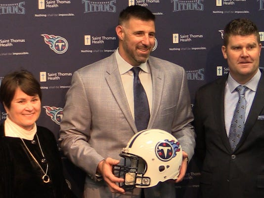 Mike Vrabel introduced as head coach of the Titans