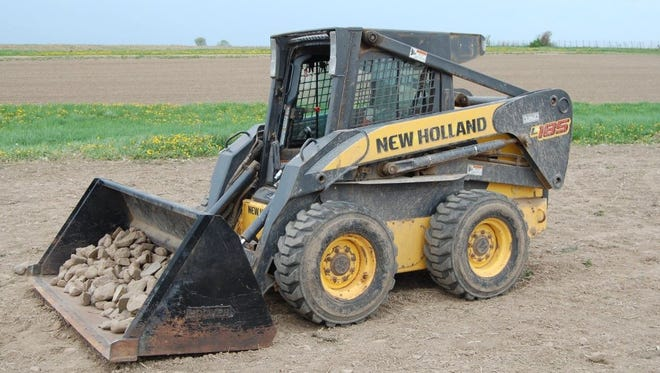 A 5-year-old Clark County boy was driving this skid loader while helping his mother and his 3-year-old brother when he accidentally ran over his younger brother, killing the toddler.