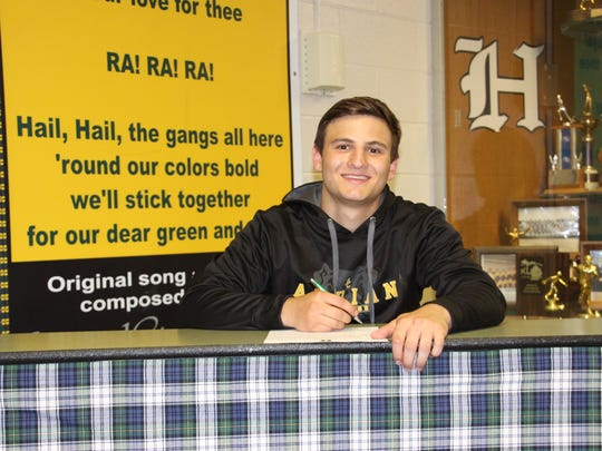 George Vechetta is taking his wrestling skills to Adrian College.