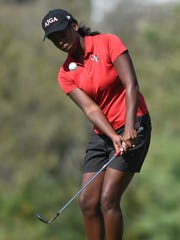 Susquehannock High School's Kendel Abrams in action during the D3 individual tournament at Briarwood Golf Club on Saturday, Oct. 7, 2017.