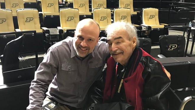 Gregg Doyel with former Journal and Courier sports writer Jeff Washburn, who died on Nov. 29, 2017.