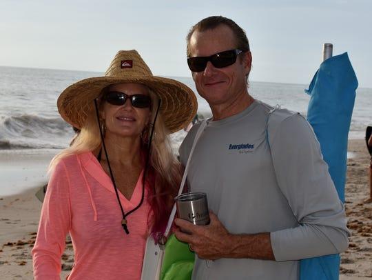 Christine Croom Baldwin and Jim Baldwin get ready for