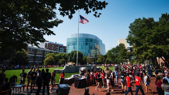 The campus of Northeastern University in Boston, Mass.