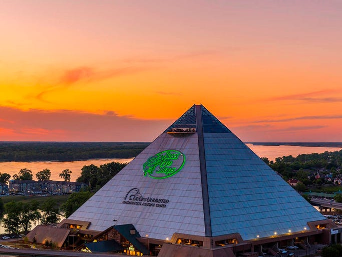 For more than a decade the world 39 s sixth largest pyramid for New hotels in memphis tn