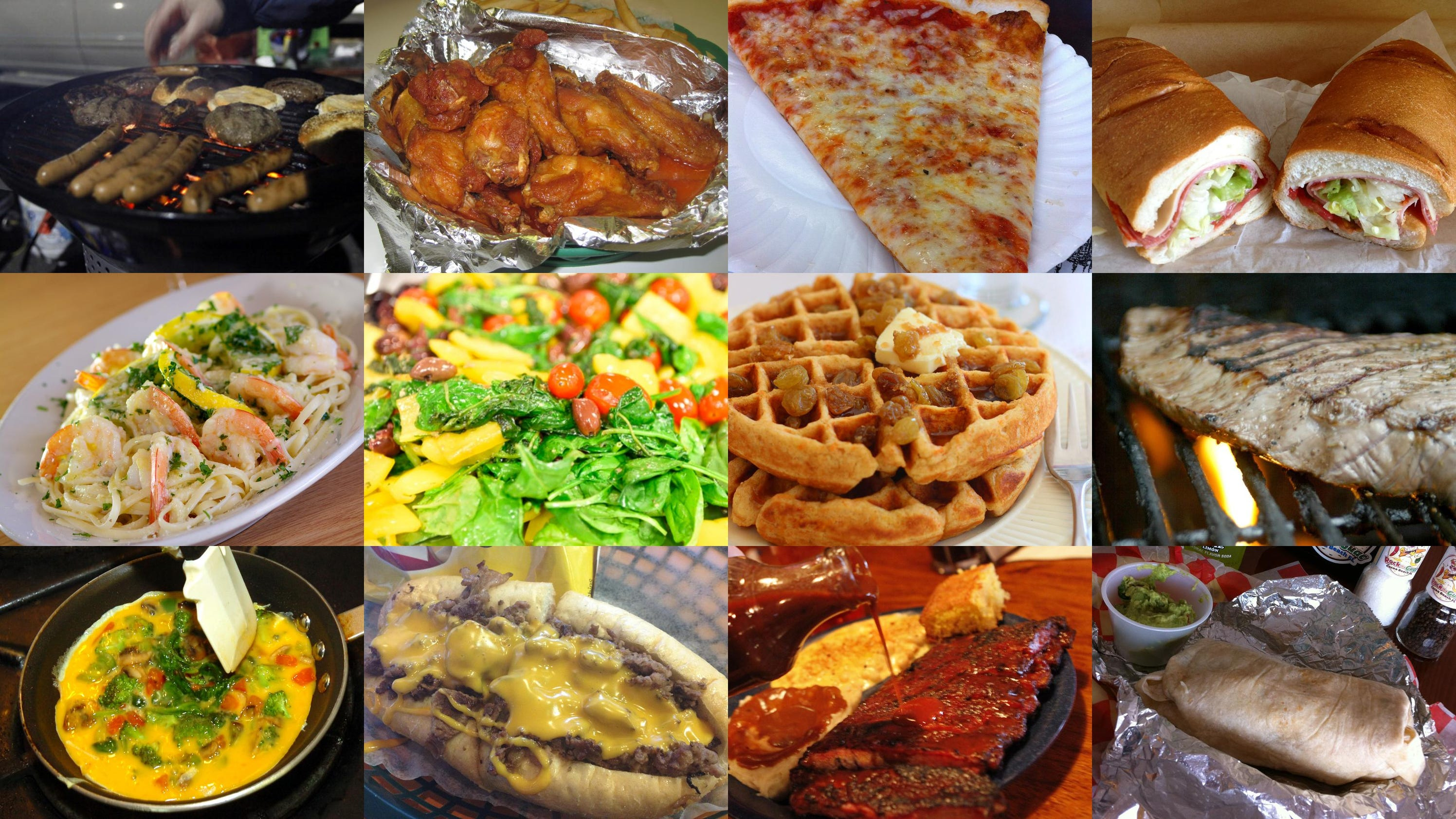 What is the all american food for All american cuisine