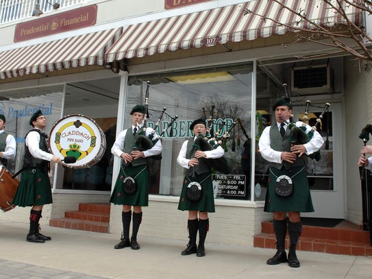 West Milford's Claddagh Pipe Band performs on March