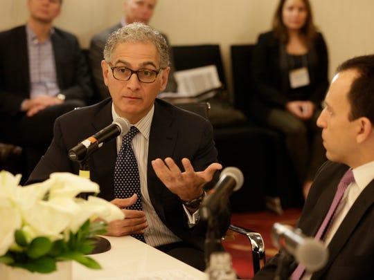 Mark Hoplamazian, CEO of Hyatt Hotels, speaks  during