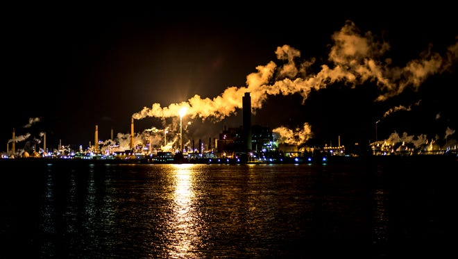 Flaring at Imperial Oil in Sarnia often is visible across the St. Clair River.