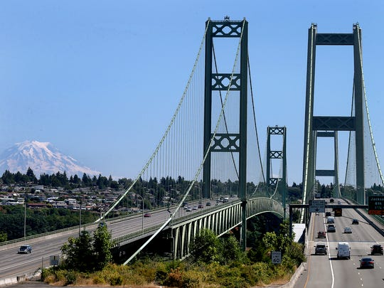 Before the new bridge opened in 2007, long traffic backups were common at the Tacoma Narrows. Collisions that closed the bridge entirely were common.