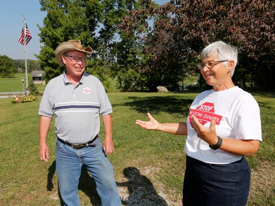 Bill and Kay Miller discuss their opposition to a proposed