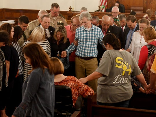 Family and supporters of Holly Bobo gathered to pray
