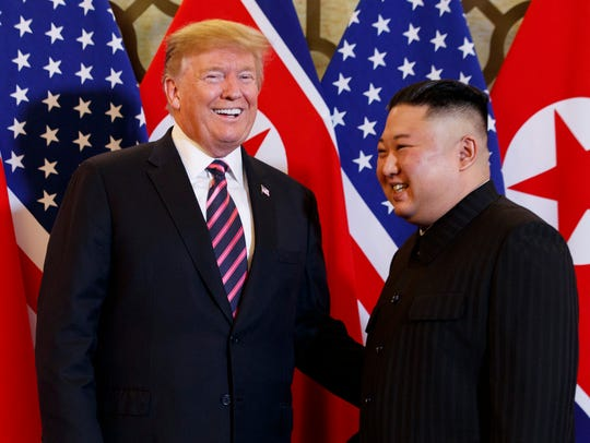 President Donald Trump meets North Korean leader Kim Jong Un, Wednesday, Feb. 27, 2019, in Hanoi, Vietnam.